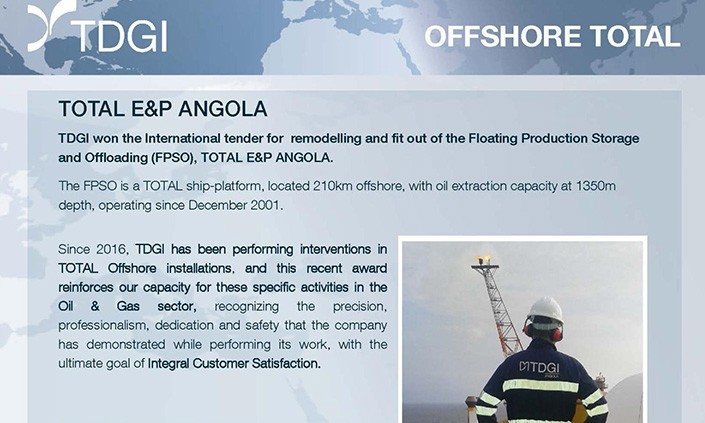 TOTAL E&P ANGOLA. TDGI Portugal
