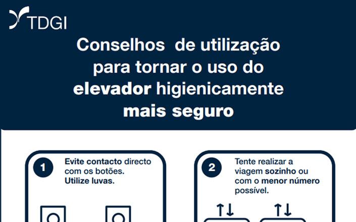 Conselhos de Utilização – Utilização de Elevadores