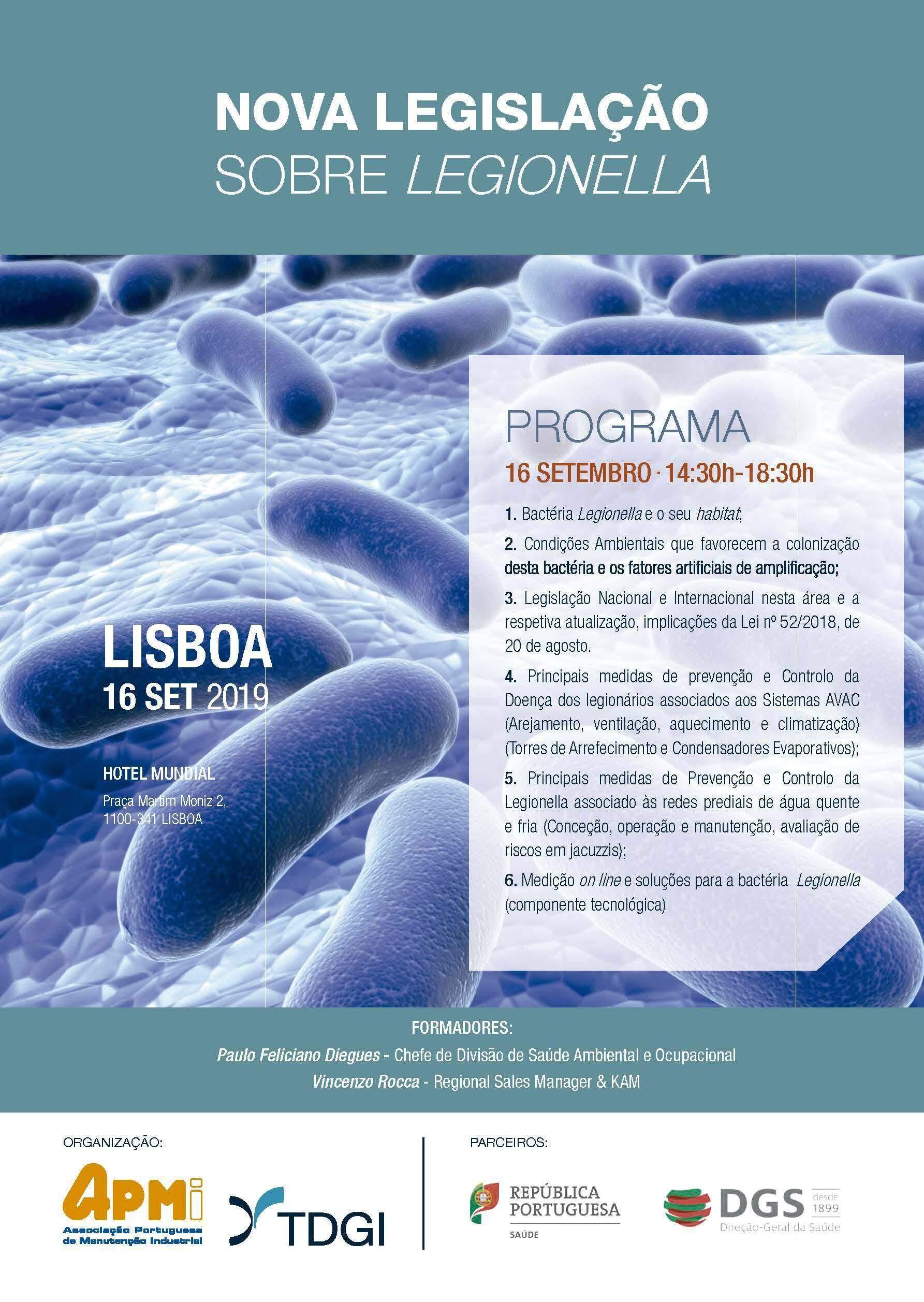 NOVA LEGISLAÇÃO SOBRE LEGIONELLA. TDGI Portugal