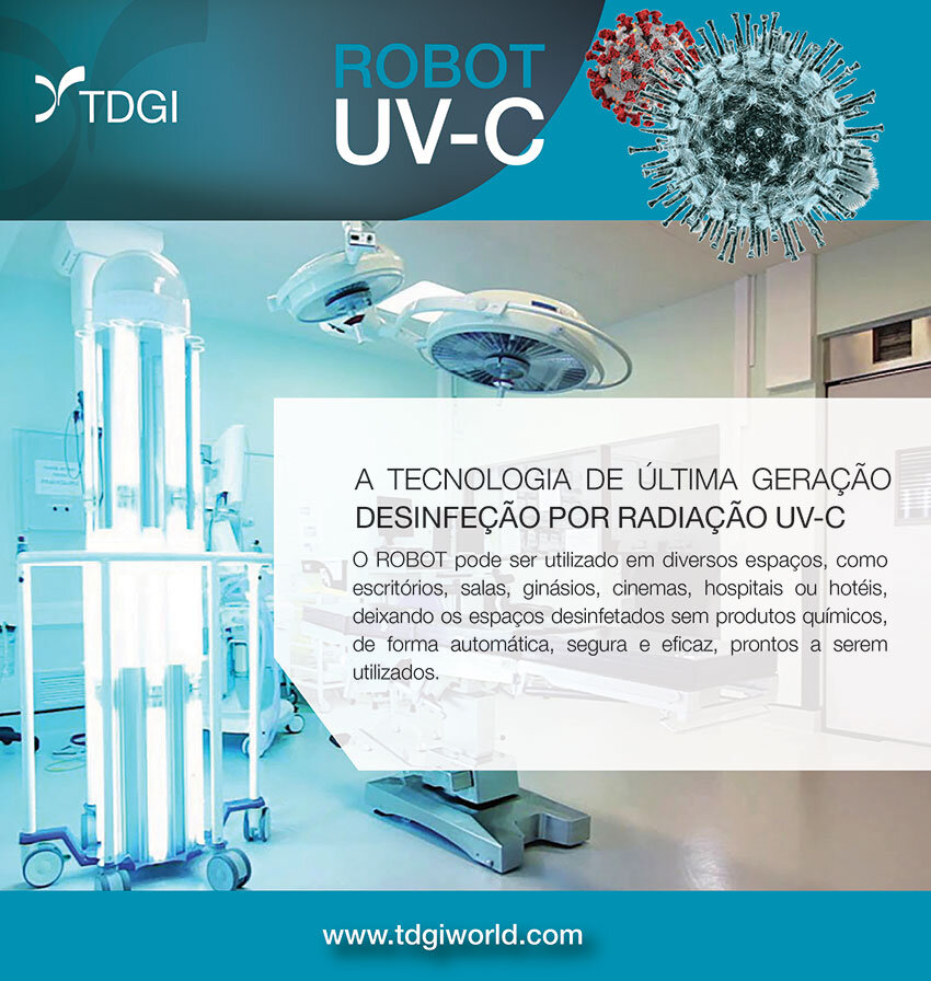 Robôs ultravioleta são a nova arma europeia contra o vírus. TDGI Portugal