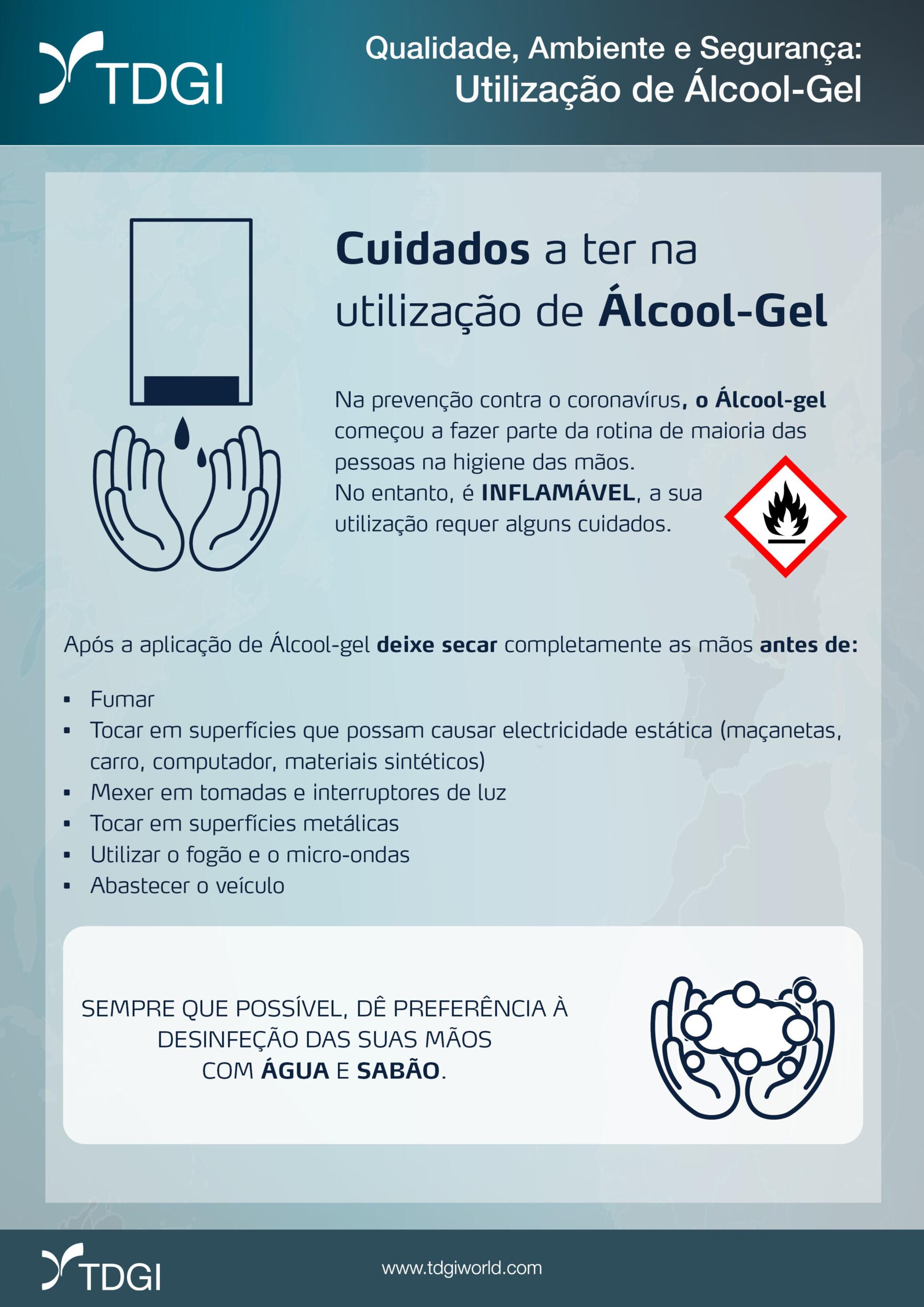 Perigos da utilização de alcool-gel