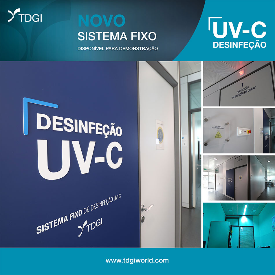 A TDGI desenvolveu um Sistema Fixo de Desinfeção com tecnologia UV-C. TDGI Portugal
